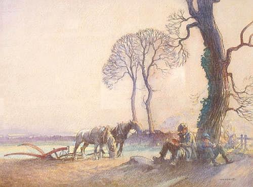 ERNEST HERBERT WHYDALE (1886-1952) The Ploughman's