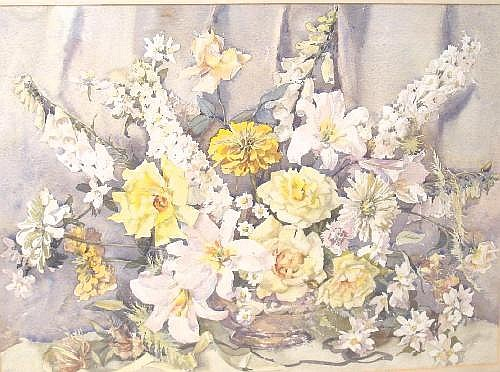 PHYLLIS L. HIBBERT (b.1903 ) A Still Life of Mixed