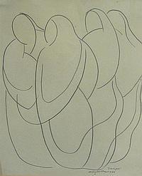 ARTHUR CYRIL HILTON (1897-1960) Gossips signed,