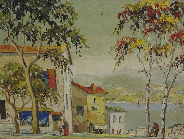 CECIL R. DOYLY JOHN (1906-1993) Townscape with