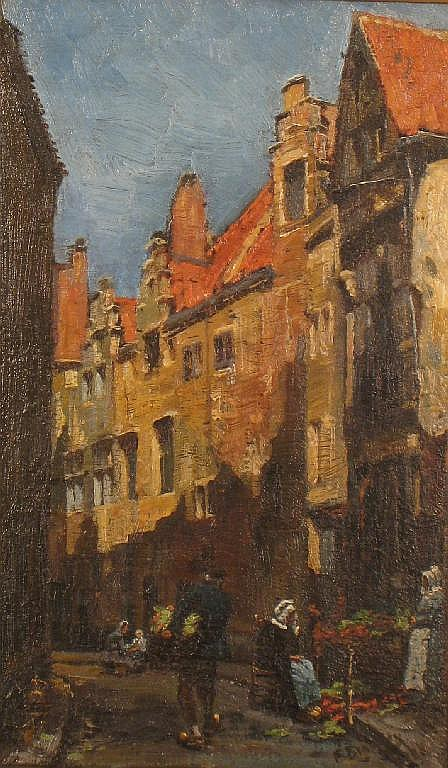 FRANK BRAMLEY R.A. (1857-1915) A Street in