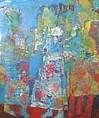 ANDREY BLUDOV (b.1962) Blue Figures indistinctly