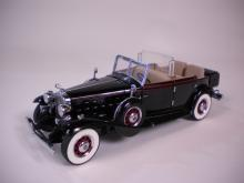 1932 Cadillac V-16 Sport Phaeton Black Convertible Elliot Ness by Franklin Mint 1:24 scale