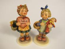 Lot of two Hummel Goebel porcelain figurines. Includes: #387