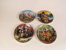 Lot of four Hummel Little Companion Series collector plates.