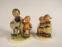 Lot of two Hummel Goebel porcelain figurines. Includes #334