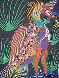 DA SILVA FRANCISCO (1910-1985) L'oiseau de feu,