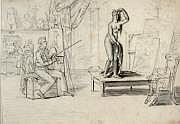 Jean Henri MARLET (Autun 1771 - 1847) Le peintre