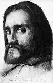 CHENAVARD PAUL (1807-1895) Autoportrait vers 1830