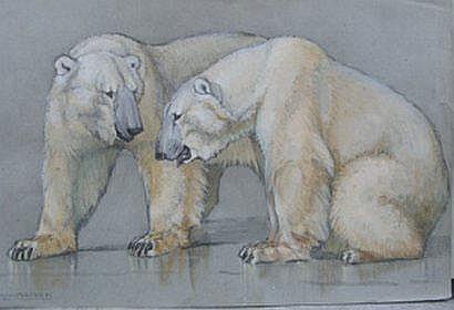 Jacques CARTIER (1907-2001) Deux ours polaires
