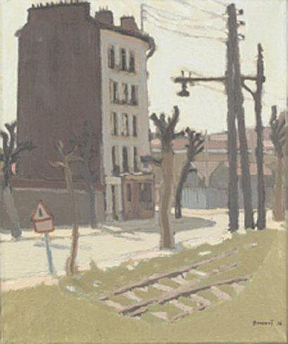 Albert DECARIS (1901-1988) Vue d'immeuble et voie