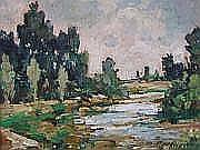 PARTURIER MARCEL (1901-1976) Rivière dans