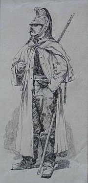 CHAPERON EUGENE (NE EN 1857) Militaire Plume.