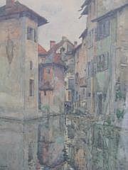 RICARD RENE (NE EN 1889) Canal du Thion à Annecy