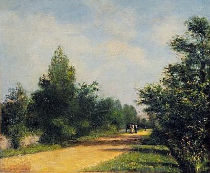 Antoine CHINTREUIL (1816-1873) La Charette sur la