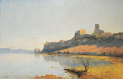 Lina BILL (1855-1936) Vue du village de