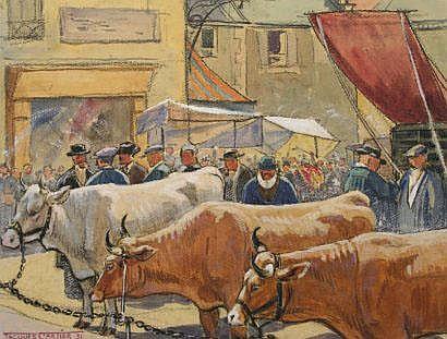 CARTIER JACQUES (1907-2001) Le marché aux