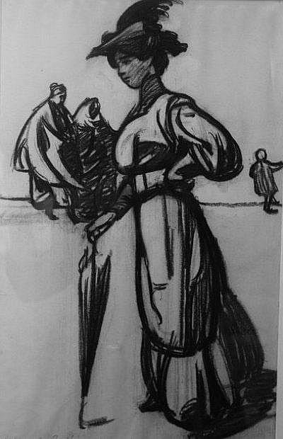 DETHOMAS MAXIME (1867-1929) Etude pour « Esquisse