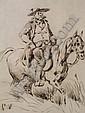 BELLANGE HIPPOLYTE (1800-1866) Homme à cheval, Hippolyte Bellange, Click for value