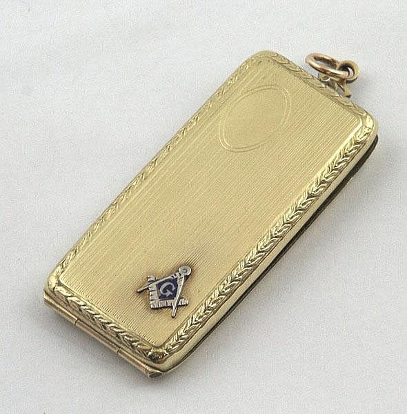 Masonic sovereign holder by 'Elgin AM MFG CO',