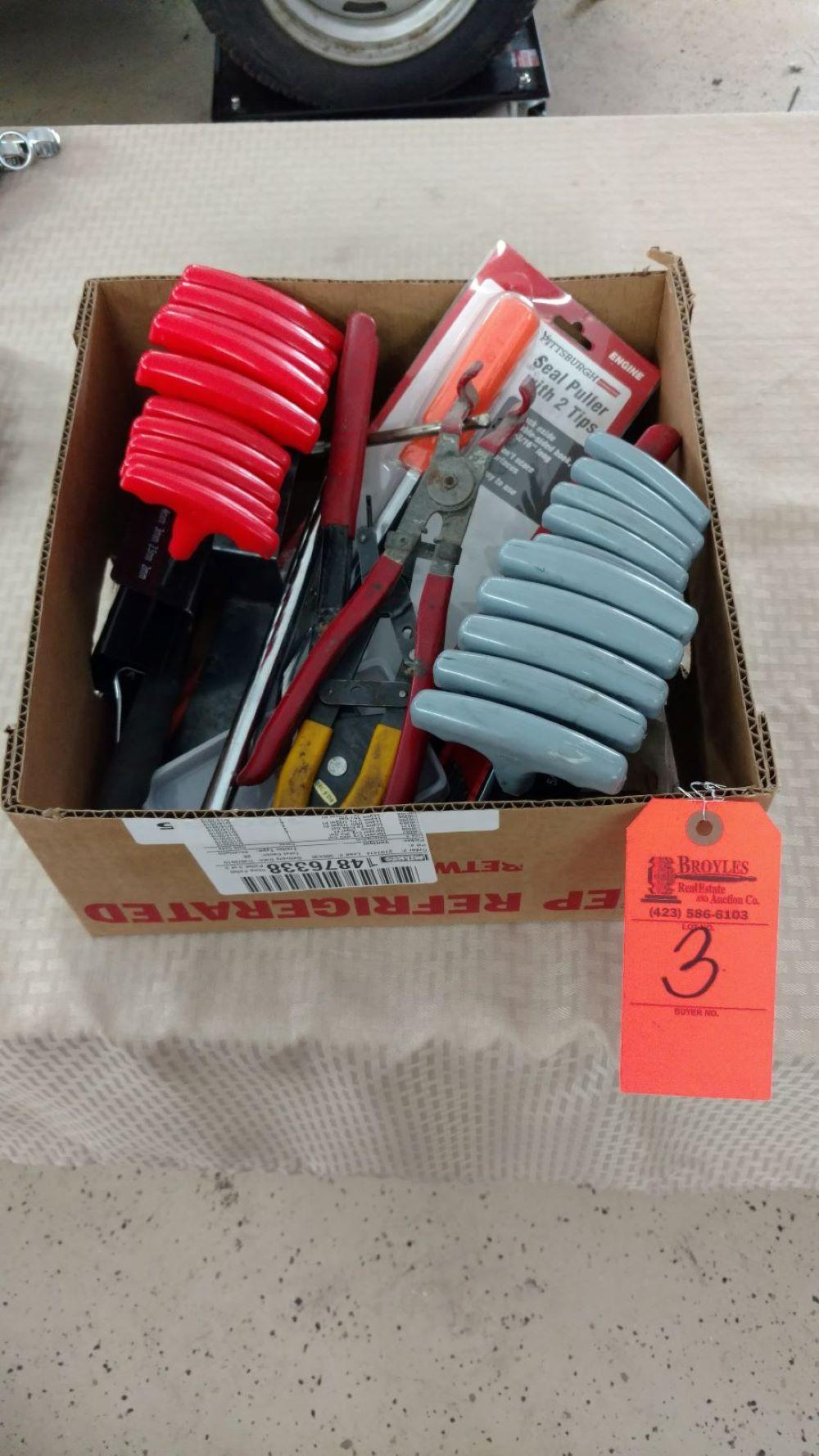 Box lot T-handle hex and tools