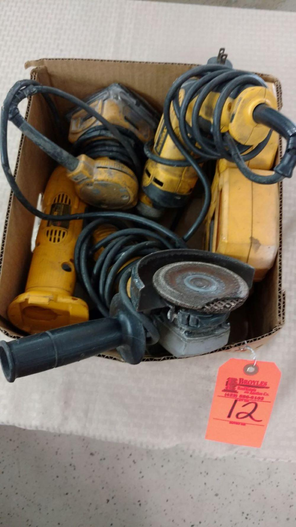 Box lot DeWalt power tools and bits