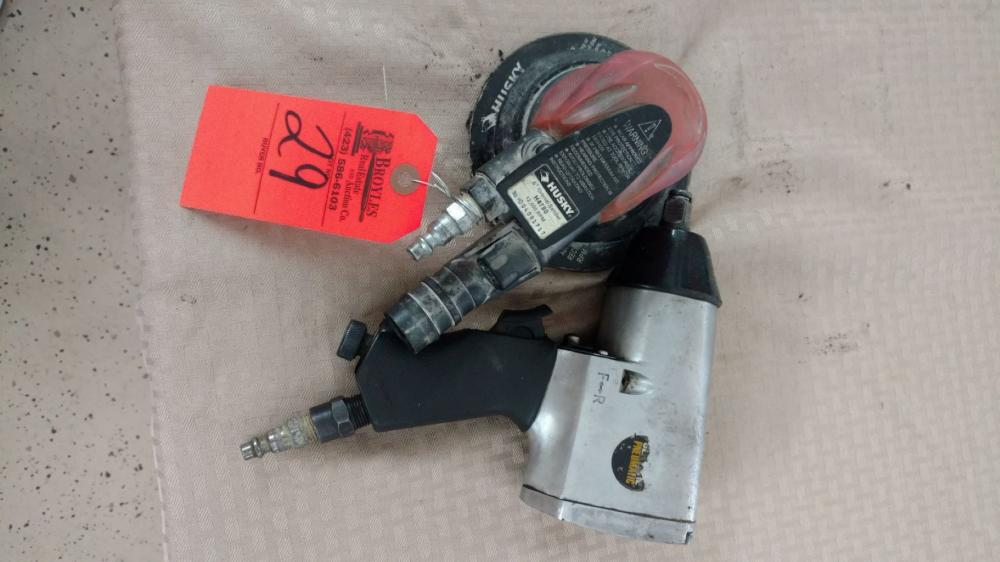 Air impact wrench and palm sander