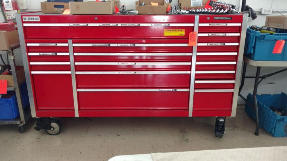 US General Pro 18 drawer mechanics chest