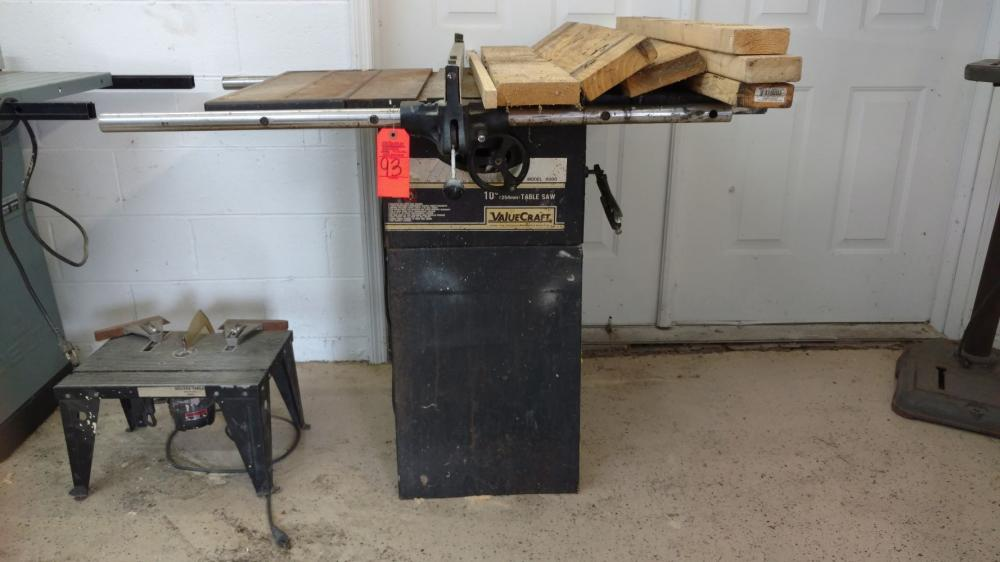 "Valuecraft 10"" table saw"