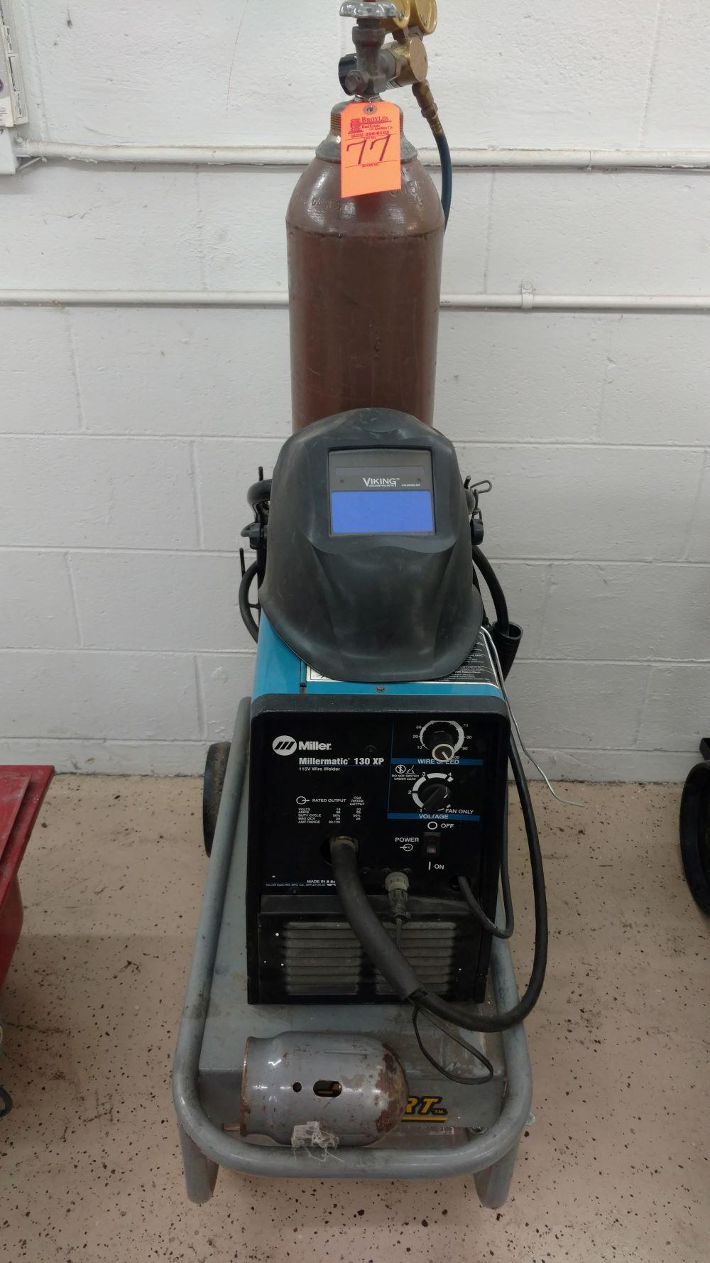 Miller Matic 130XP wire welder w/helmet