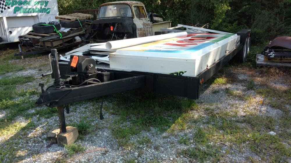 26' trailer dual axle with winch