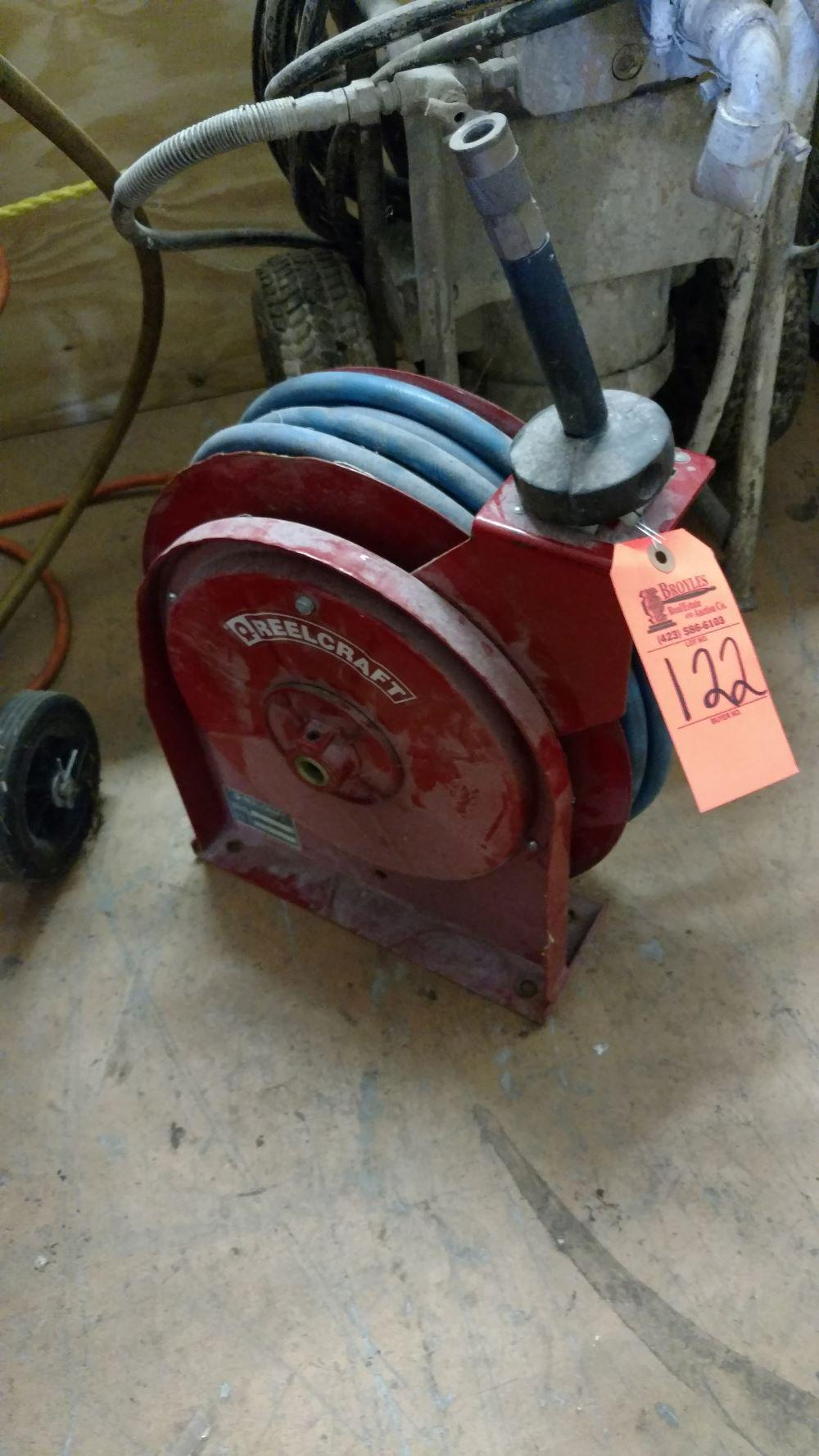 Air hose with reel