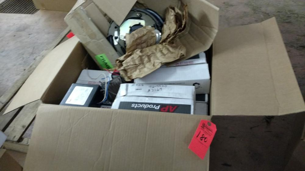 Box lot trailer break shoes and parts