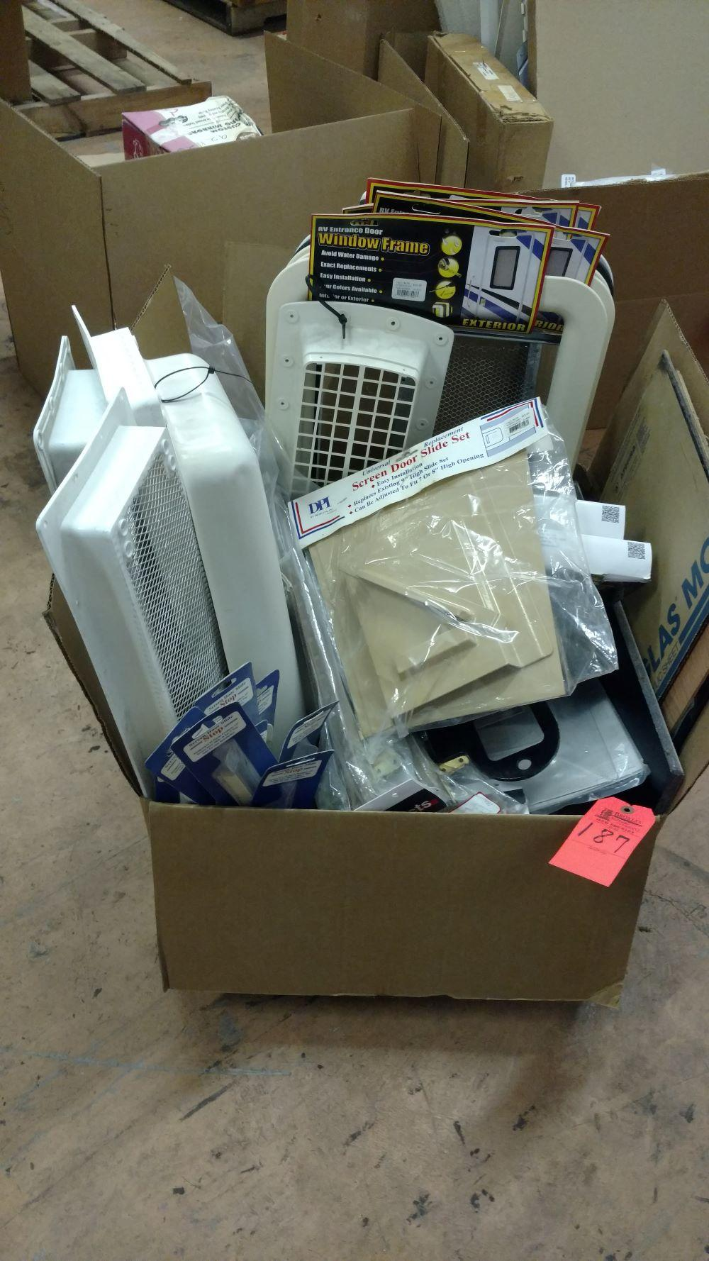 Box lot RV slides, window frames & screens