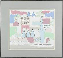 Artist Unknown  Unsigned Blue Mosque Silkscreen