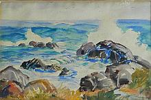 Rogers Breaking Waves Watercolour