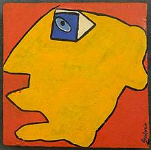 Scalercio Untitled (Face) Acrylic on canvas