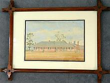 Artist Unknown Australian School The Bush Pub Ink & watercolour