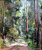 Reginald Earl (Reg) Campbell (1923-2008) The Bush Road Oil on canvas on board