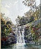 Margaret Agnes Coen (1913-1993) Waterfall Watercolour, Margaret Coen, Click for value