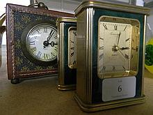Three Old Style Carriage Clocks