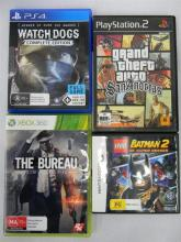 Four assorted computer games  PS4, xBox 360 etc