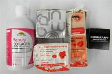 A bag of assorted anti-aging creams