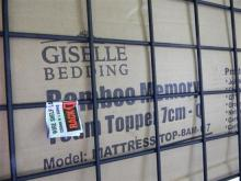 A Giselle bamboo memory foam topper size Q