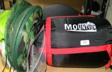 A Mountain View sleeping bag & other camping accessories