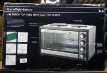 A Sheffield 33 litre bench top oven with dual hot plates