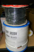 A roll of electrical building wire & four core audio cable