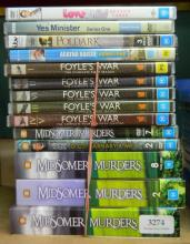 A collection of television DVD sets incl. Foyles War & Mid Summer Murders