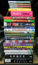 A quantity of DVD''s & CD''s incl. childrens & eductional sets