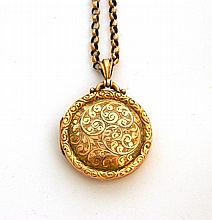 A locket and chain